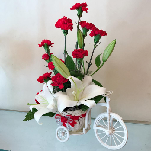 send flower Rajouri Garden DelhiFlowers On Rricycle (Only For Delhi)