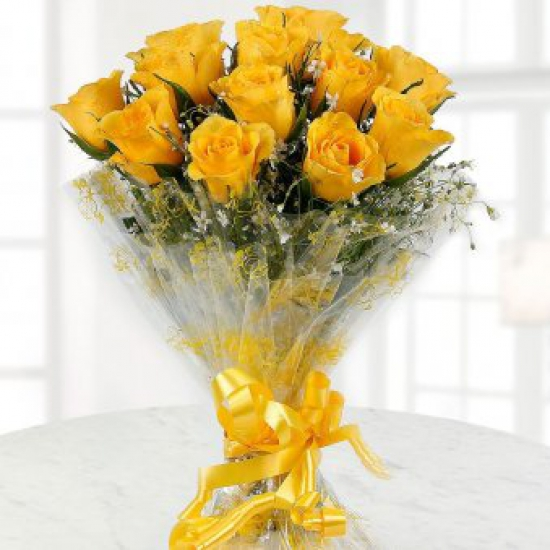 send flower Sadiq Nagar DelhiBright and beautiful Yellow Roses