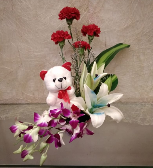 send flower NangloiTeddy & Flowers