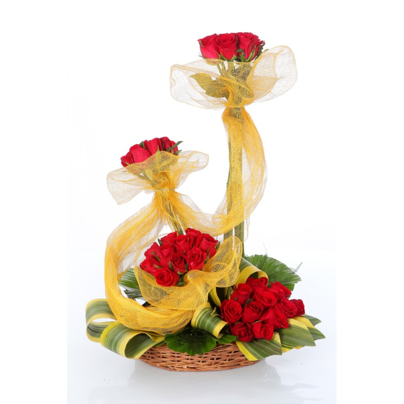 send flower Vasant viharArrangement of 75 Red Roses