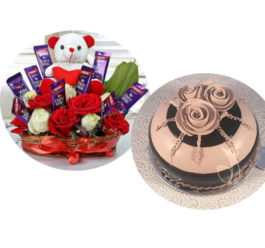 send flower Jamia Nagar DelhiArrangement & Cake
