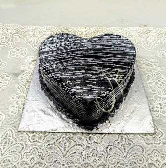 Flowers Delivery in Sector 53 GurgaonHeart Shape Truffle Cake