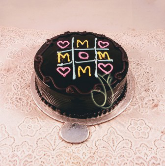 send flower Govindpuri DelhiMom Chocolate Cake