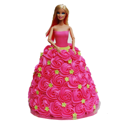 send flower Dwarka Delhi2kg Doll Cake