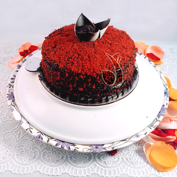 send flower Anand Parbat DelhiRed Velvet Choco Bar Cake