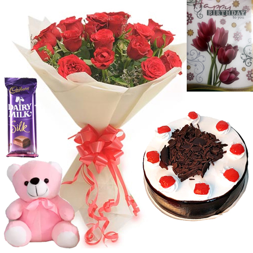 send flower Pushp Vihar DelhiSweet Combo1