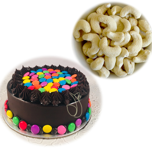 send flower Saket DelhiCake & Dry Fruits