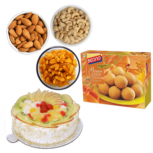 send flower Seelampur DelhiCake & Dry Fruits & Sweets