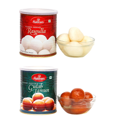 send flower Pushp Vihar Delhi1kg Rasgulla & 1kg Gulab Janun Pack