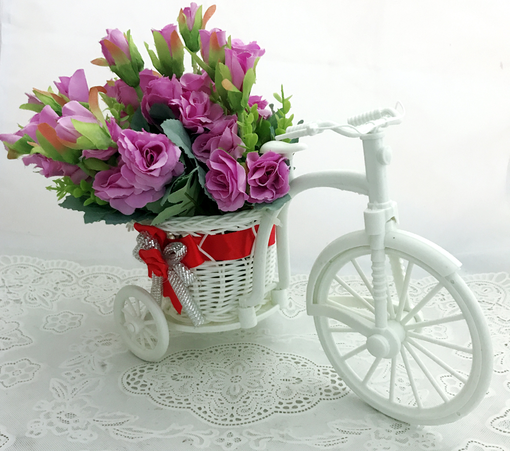 send flower Seelampur Delhi30 Artificial Mini Purple Flowers in Riksha (Only For Delhi)