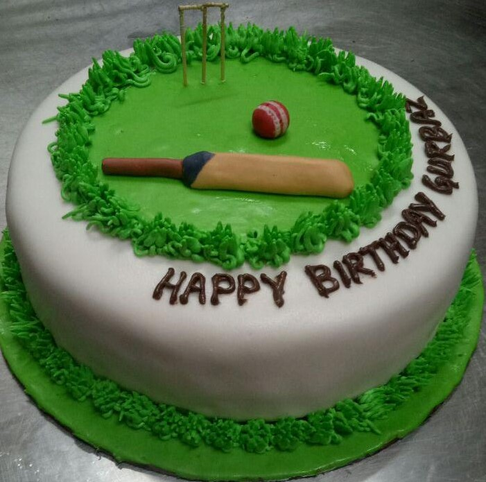 send flower Bhajan Pura Delhi1Kg Cricket Cake