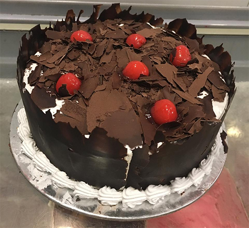 send flower Aya Nagar Delhi1Kg Exotic Black Forest Cake