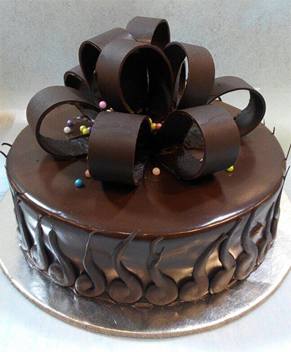 send flower Ashram Delhi1kg Belgium Chocolate Cake