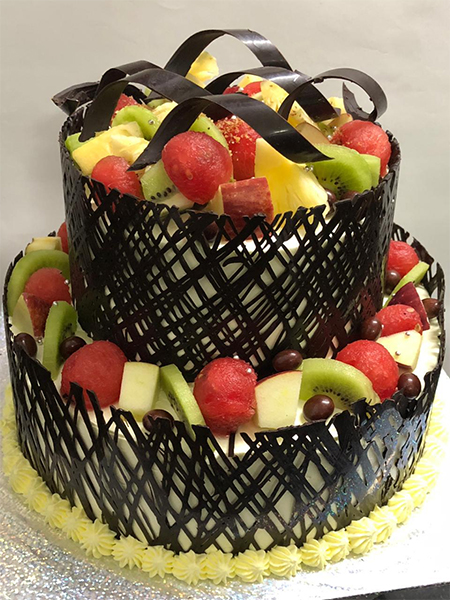 send flower Ashram Delhi4 Kg Chocolate Fruit Cake