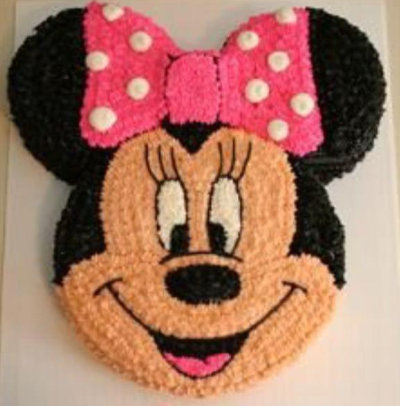 send flower Ashram Delhi2Kg Mini-Mouse Cake