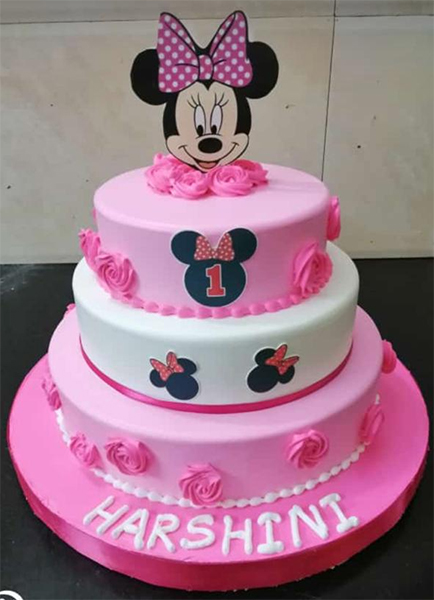 send flower Ashram Delhi5Kg Mini - Mouse Fondant Cake