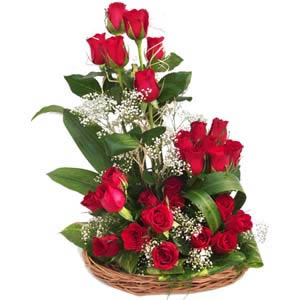 send flower Karam Pura DelhiRapturous  Red