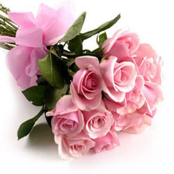 send flower NangloiA Bunch of 15 Pink Roses