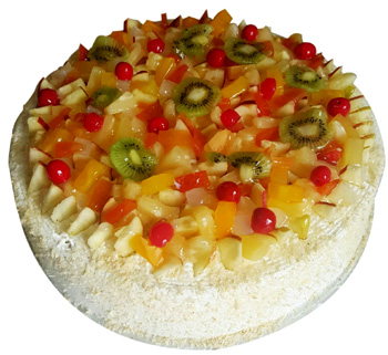 Fresh Fruit Cocktail Cake