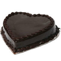 1kg Heart Shape Chocolate Truffle Cake Eggless