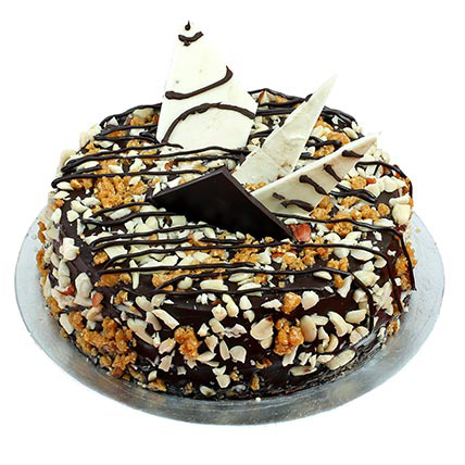 send flower Sadiq Nagar DelhiNutty Crunchy Chocolate Cake