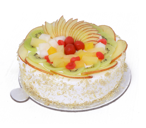 send flower Vasant viharFresh Fruit Cake